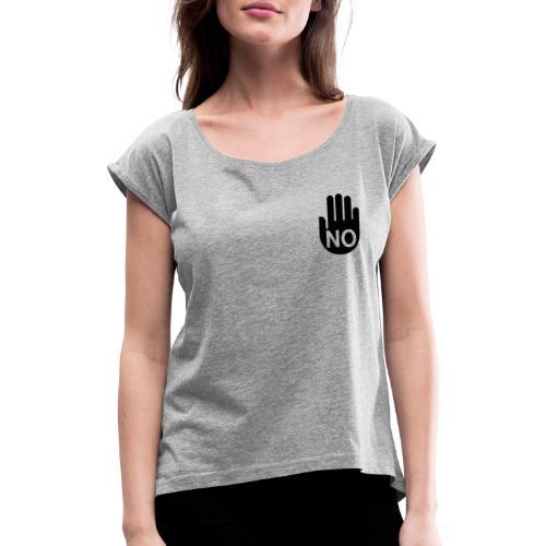 NoHanD - Frauen T-Shirt mit gerollten Ärmeln