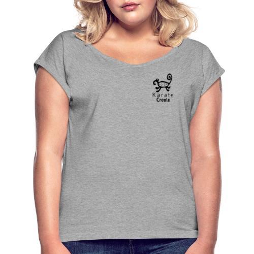karate Creole con Letras - Camiseta con manga enrollada mujer