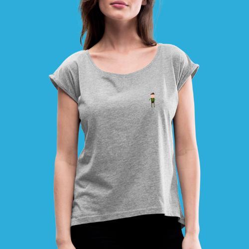 Adventurer -small - Vrouwen T-shirt met opgerolde mouwen