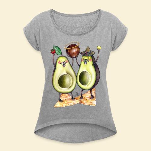 Holy Guacamole - Vrouwen T-shirt met opgerolde mouwen