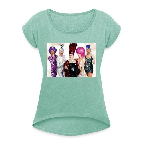Covergirls - Frauen T-Shirt mit gerollten Ärmeln