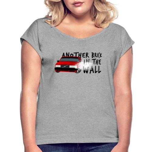 Another brick in the wall - T-shirt à manches retroussées Femme