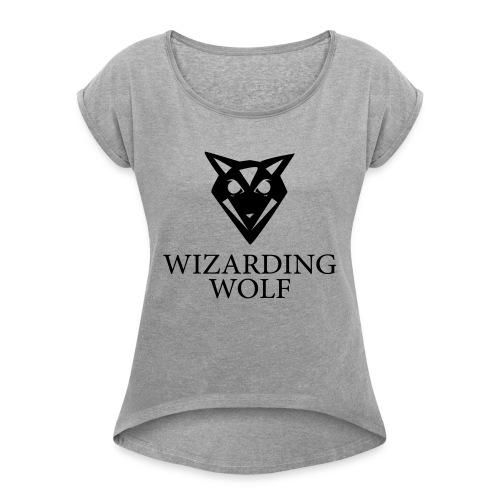 Wizarding Wolf - Frauen T-Shirt mit gerollten Ärmeln