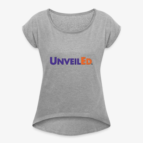 Unveiled FedEx Logo - Women's T-Shirt with rolled up sleeves