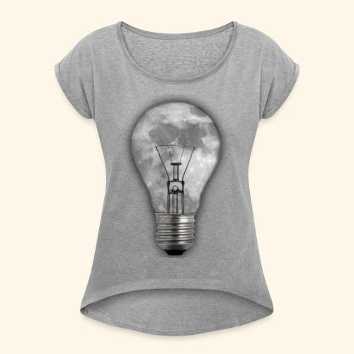 moon bulb - Camiseta con manga enrollada mujer