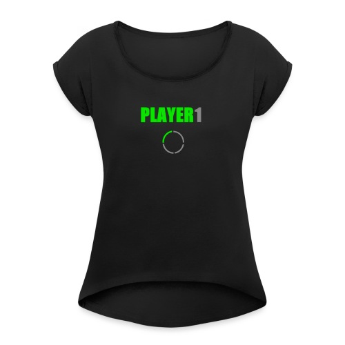 PLAYER 1 VideoJuegos - Camiseta con manga enrollada mujer