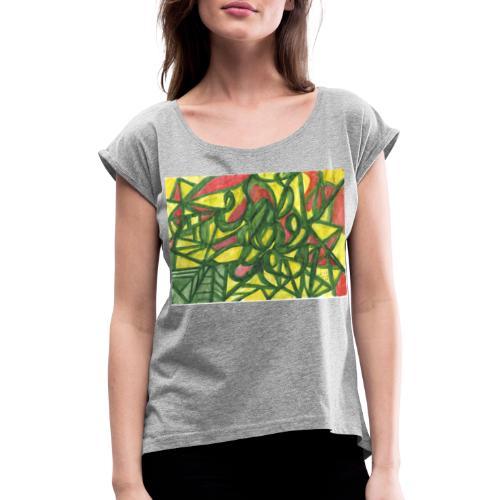 April 2020 - Frauen T-Shirt mit gerollten Ärmeln