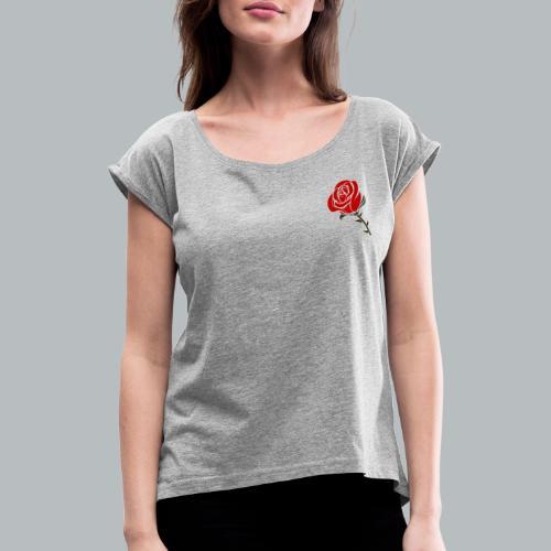 7AC31D7F 2E9F 4939 B7B7 5C638DF08365 - T-shirt med upprullade ärmar dam