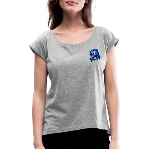 GcA Logo - Frauen T-Shirt mit gerollten Ärmeln