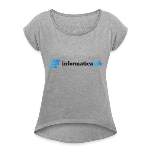 InformaticaLab logo for white background - Maglietta da donna con risvolti