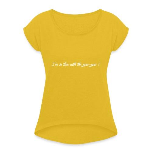 Pow-pow white - T-shirt à manches retroussées Femme