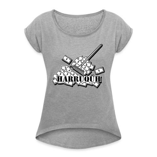 Harruquh - Vrouwen T-shirt met opgerolde mouwen