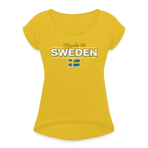 MADE IN SWEDEN - Women's T-Shirt with rolled up sleeves