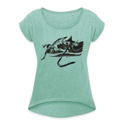 shoe (Saw) - Women's T-Shirt with rolled up sleeves