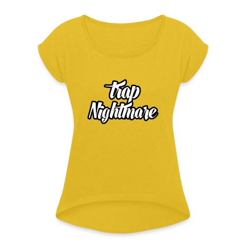 conception lisse - T-shirt à manches retroussées Femme