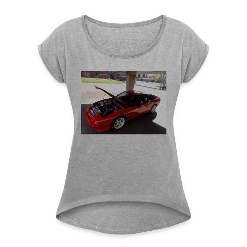 s13 - Naisten T-paita, jossa rullatut hihat