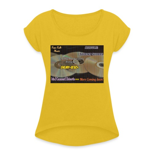 Enemy_Vevo_Picture - Women's T-Shirt with rolled up sleeves