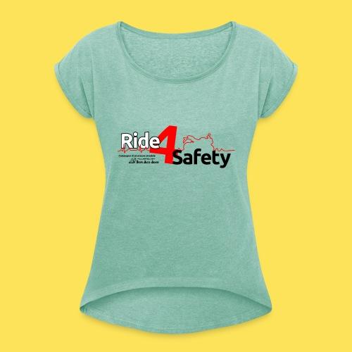 Ride4Safety - Maglietta da donna con risvolti