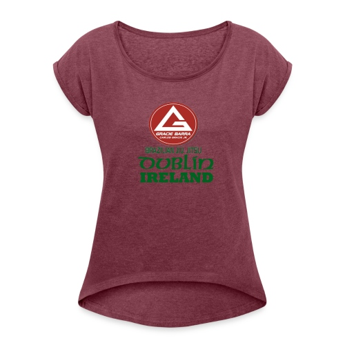 Gracie Barra Dublin Gaelic Celtic Font PNG - Women's T-Shirt with rolled up sleeves