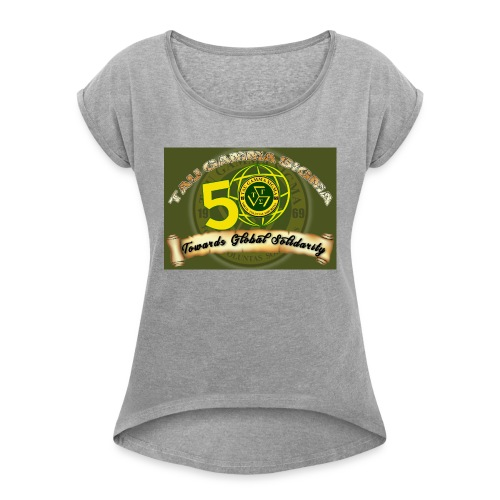 tau gamma - Women's T-Shirt with rolled up sleeves