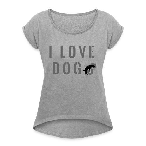 I love dog - Maglietta da donna con risvolti