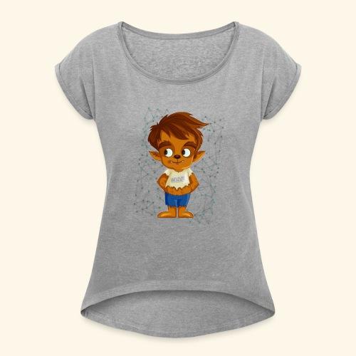 Loup-garous - T-shirt à manches retroussées Femme