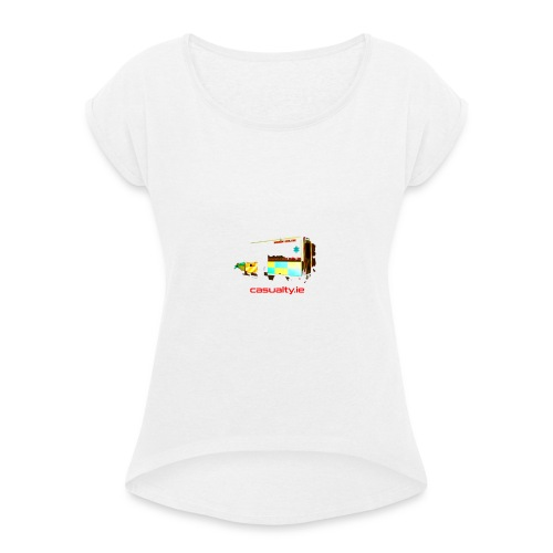 maerch print ambulance - Women's T-Shirt with rolled up sleeves