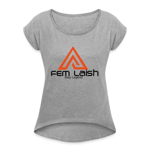 FEM Laish - Dame T-shirt med rulleærmer