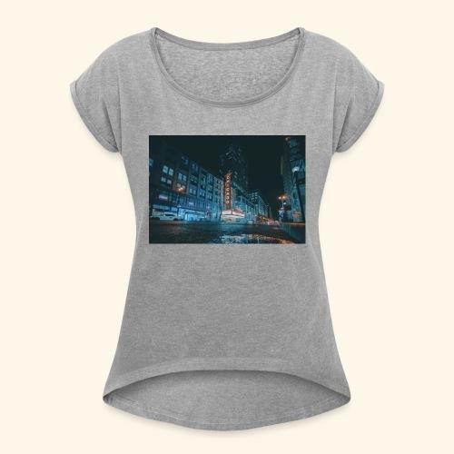 Chicago - T-shirt med upprullade ärmar dam