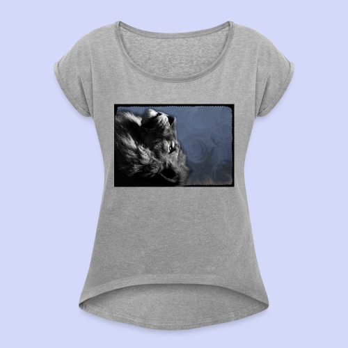 Lion night - Female shirt - Dame T-shirt med rulleærmer