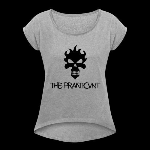 Black Prakticvnt - Frauen T-Shirt mit gerollten Ärmeln