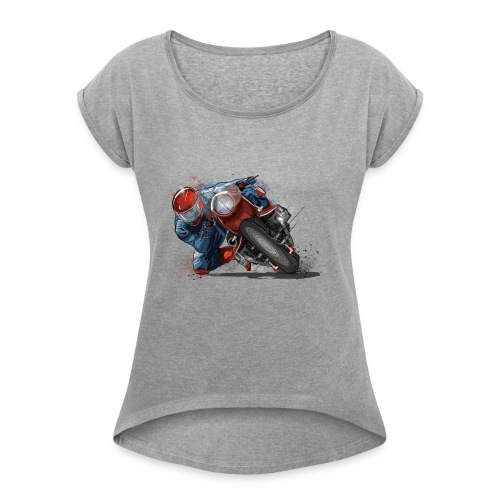 banking art - Women's T-Shirt with rolled up sleeves