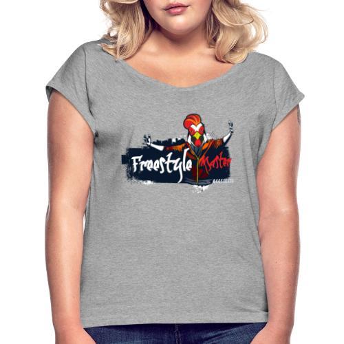 freestyle master - Camiseta con manga enrollada mujer