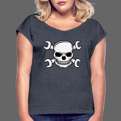 MEKKER SKULL - Dame T-shirt med rulleærmer