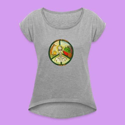 Katt Willow - Women's T-Shirt with rolled up sleeves