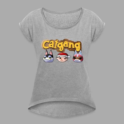 Animal Crossing CatGang - Frauen T-Shirt mit gerollten Ärmeln