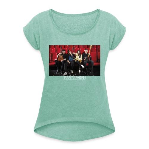 Jessica Parish Band - Frauen T-Shirt mit gerollten Ärmeln