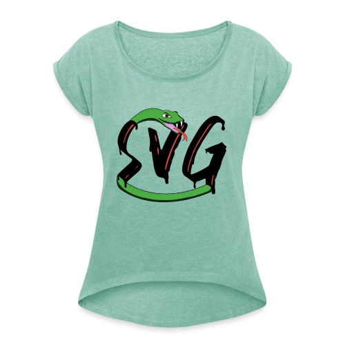 Savage Snake - Vrouwen T-shirt met opgerolde mouwen