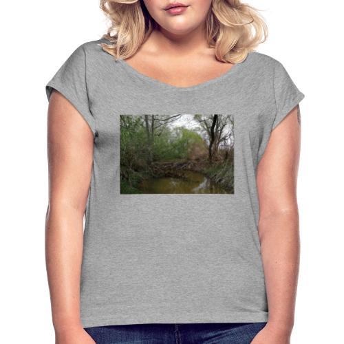 BIBER-STAUDAMM - Frauen T-Shirt mit gerollten Ärmeln