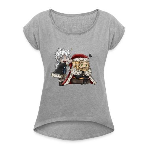 Noël en Famille - T-shirt à manches retroussées Femme