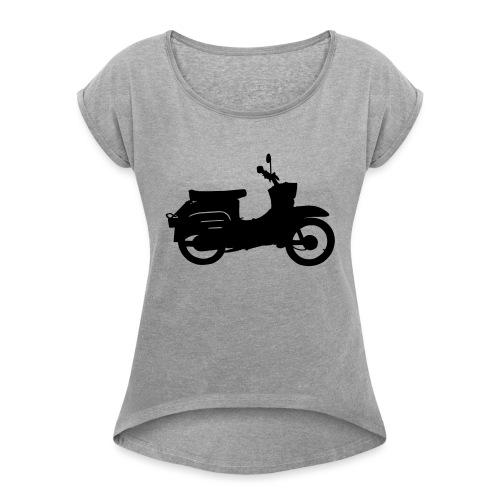 Schwalbe Silhouette - Frauen T-Shirt mit gerollten Ärmeln