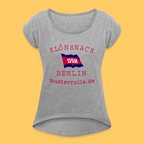 KiB-Logo-gif - Frauen T-Shirt mit gerollten Ärmeln