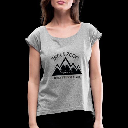 logo isola 3 - T-shirt à manches retroussées Femme
