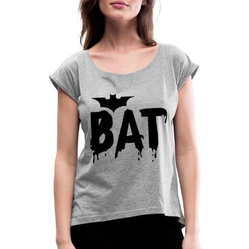 PNG Bild - Frauen T-Shirt mit gerollten Ärmeln