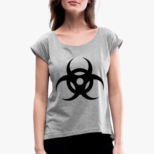 biohazard - Frauen T-Shirt mit gerollten Ärmeln