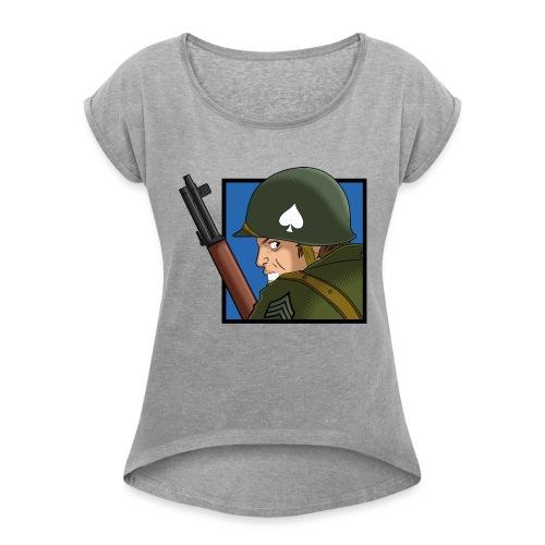 M1 - Camiseta con manga enrollada mujer