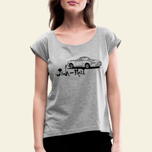 mx5 nb - Dame T-shirt med rulleærmer