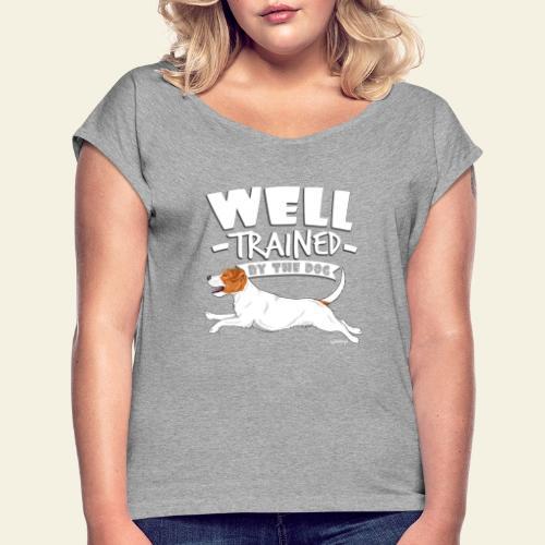 parsonwell2 - Naisten T-paita, jossa rullatut hihat