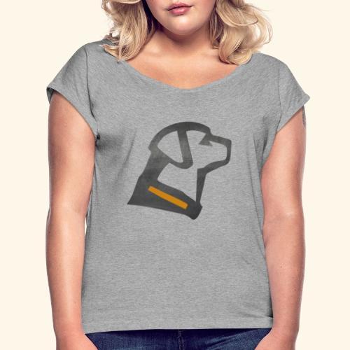 Labby - Frauen T-Shirt mit gerollten Ärmeln