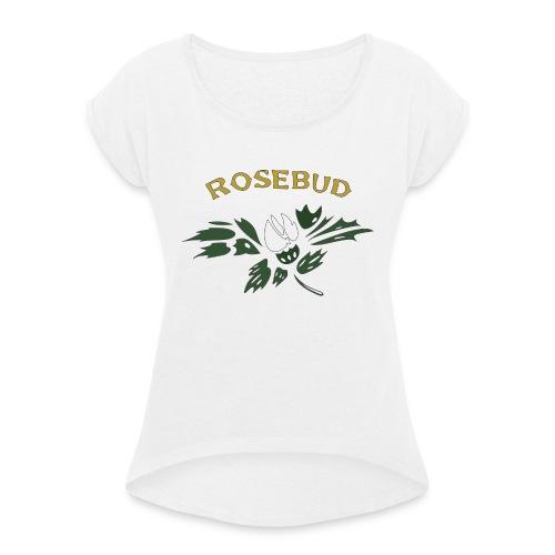 rosebud - Frauen T-Shirt mit gerollten Ärmeln